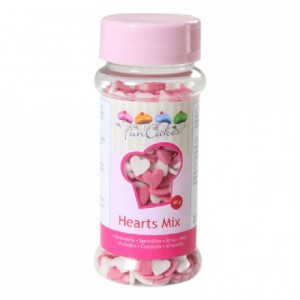 FunCakes Hearts Pink and White 60g