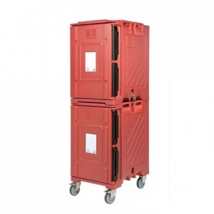 Insulated box Euronorme Classic 2, two elements with wheels