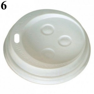 Dome lid for hot drink tumbler Ø 83 mm (1000 pcs)