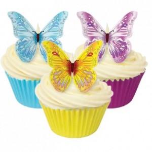 Culpitt Edible Wafer Paper Butterfly Assorted pk/12