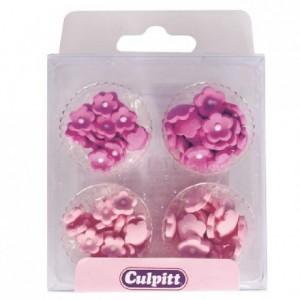 Culpitt Sugar Decorations Mini Flowers Pink pk/100