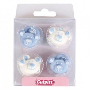 Culpitt Sugar Decorations Baby Bears Blue pk/12