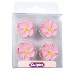 Culpitt Sugar Decorations Wild Roses Pink pk/12