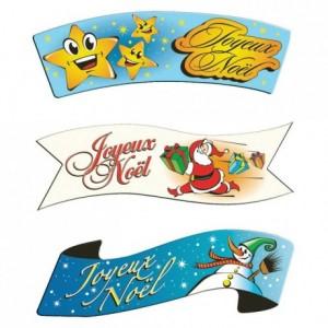 Joyeux Noël edible decoration (24 pcs)