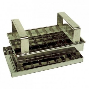 Caramel cutter 40 squares stainless steel 200 x 125 x 14 mm