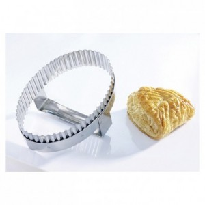 Apple turnover cutter with handle stainless steel 170 x 125 mm