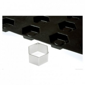 Cutter hexagon for biscuits bases stainless steel 72 x 72 mm