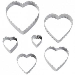 Wilton Double Cut Outs Heart Set/6