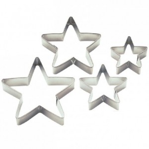 Wilton Stars Nesting Metal Cutter set/4