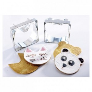Biscuit cutter cat's head stainless steel 110 x 110 mm