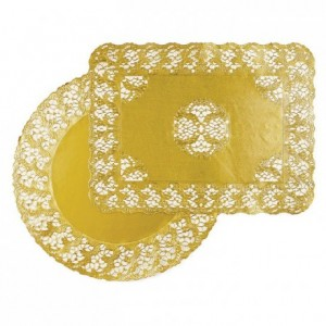 Gold round doily Harmony Ø 170 mm (100 pcs)