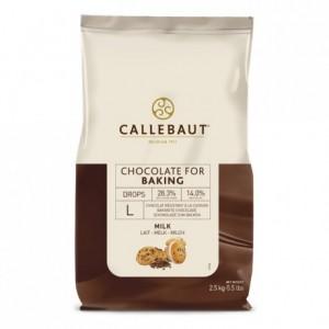 Milk chocolate drops 2,5 kg