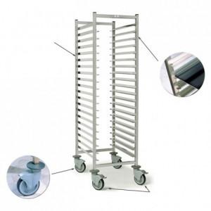 15-shelf pastry trolley Optimo 600 x 500 x 1650 mm
