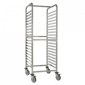20-shelf sliding tray gastronorm trolley Exceptio GN 2/1 750 x 660 x 1700 mm