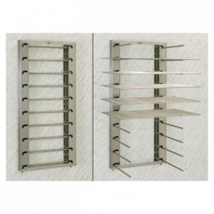 Foldable wall rack