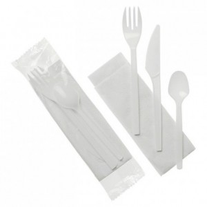 Cutlery packed 4 in 1 (250 pcs)