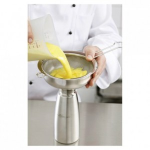 Funnel + removable stainless sieve