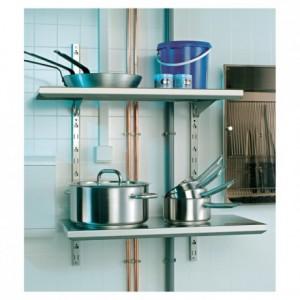 Adjustable wall shelf L 800 mm