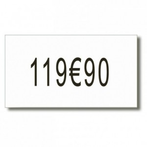 Labels with 1 line (pack of 8 rolls of 2500 labels)