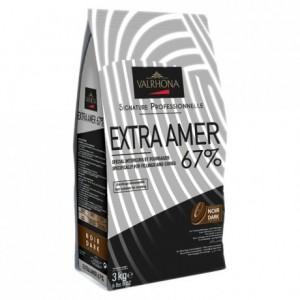Extra Amer 67% dark chocolate Professional Signature beans 3 kg