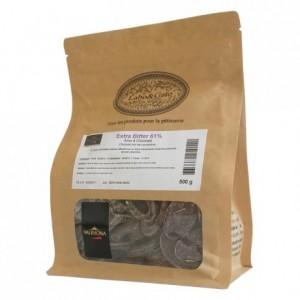 Extra Bitter 61% dark chocolate Blended Origins Grand Cru beans 500 g