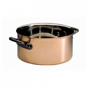 Round casserole Alliance copper/stainless steel without lid Ø 200 mm