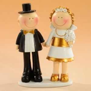 Decorative Figure Wedding - Golden Wedding Couple