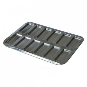 Mini-financiers pan 12 imprints tin 290x200 mm (pack of 3)
