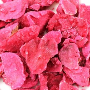 Crystallized large red roses petals 100 g