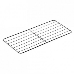 Flat grid gastronorm format stainless steel GN2/1 265 x 325 mm