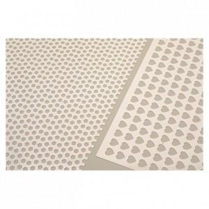 Biscuit stencil grill hexagons
