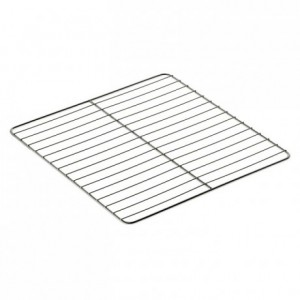 Flat grid gastronorm format stainless steel GN2/1 354 x 325 mm