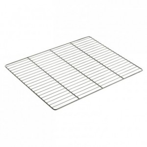 Flat grid gastronorm format stainless steel GN2/1 650 x 530 mm