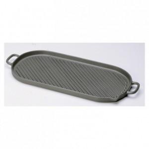 Oval griddle cast iron L 530 mm