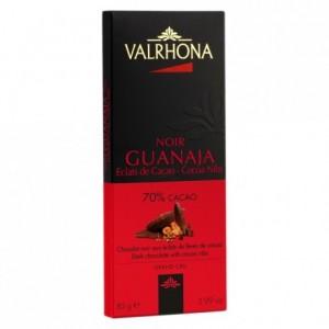 Guanaja 70% dark chocolate and cocoa nibs bar 85 g