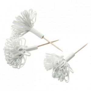 Hatelet bouquet blanc white (50 pcs)