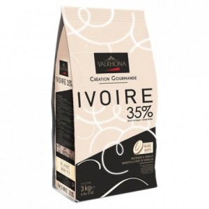 Ivoire 35% white chocolate Gourmet Creation beans 3 kg