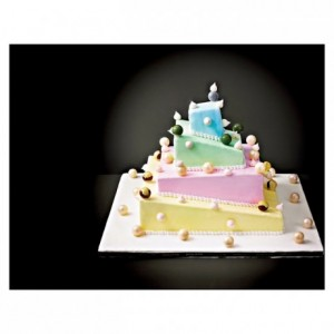 Complete kit French style Wedding Cake de-structured square