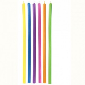 Wilton Candles Long Multicolor pk/12