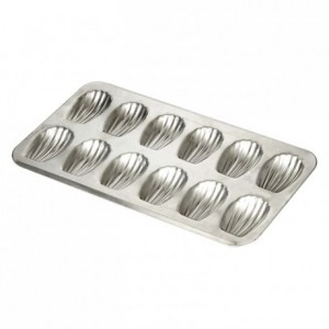 Madeleine pan 12 imprints tin 395x200 mm (pack of 3)