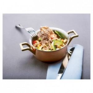 Mini-cooking pot copper/stainless steel Ø 90 mm