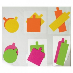 Mini reversible rectangular orange/lemon cardboard 130 x 45 mm (200 pcs)