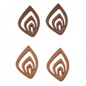 Stylised flower decorations chocolate mould in polycarbonate 275 x 175 mm (15 moulds)