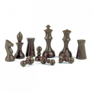 Chocolate mould polycarbonate 16 chess pawns