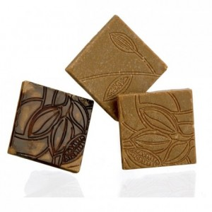 """Chocolate mould polycarbonate 18 """"cocoa texture"""" square"""