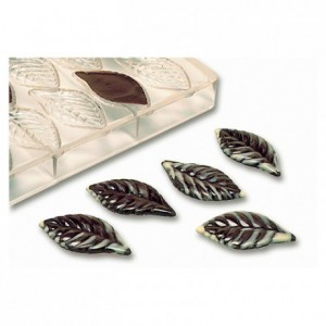 Chocolate mould polycarbonate 21 leaves