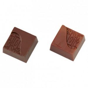 Chocolate mould polycarbonate 24 hieroglyph square