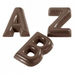 Chocolate mould polycarbonate 26 alphabet