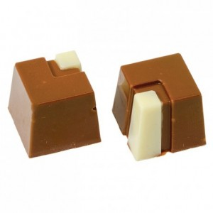 28 square sweets in polycarbonate mould