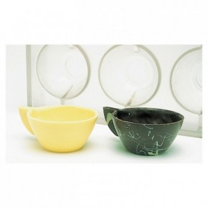 Chocolate mould polycarbonate 3 cup